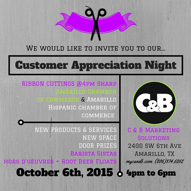 C&B Marketing Solutions Customer Appreciation Night and Ribbon Cutting
