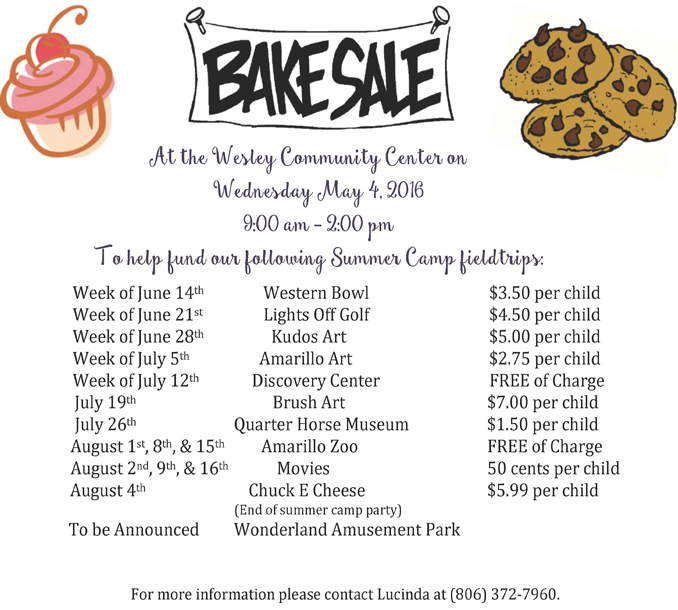 Bake Sale @ Wesley Community Center | Amarillo | Texas | United States