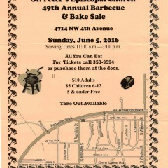 St. Peter's Episcopal Church 49th Annual Barbecue & Bake Sale – 6/5/2016
