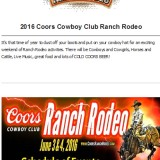 Coors Cowboy Club Ranch Rodeo