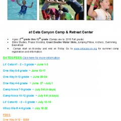 Summer Camp at Ceta Canyon Camp & Retreat Center