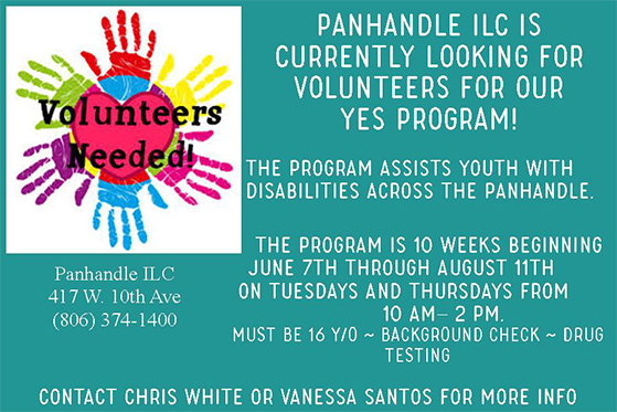Volunteers needed: Panhandle ILC @ Panhandle ILC | Amarillo | Texas | United States