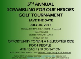 5th Annual Scrambling for Our Heroes Golf Tournament – 7/30/2016
