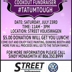 Team Tatum Cookout Fundraiser – 7/23/2016