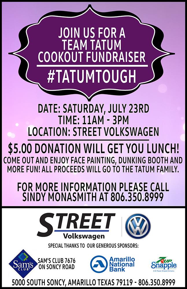 Team Tatum Cookout Fundraiser @ Street Volkswagen | Amarillo | Texas | United States