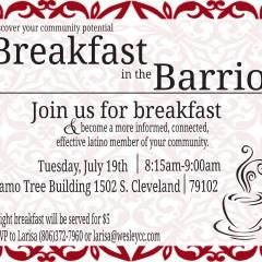 Breakfast in the Barrio – 7/19/2016