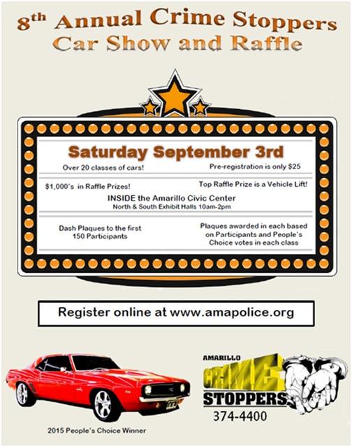 8th Annual Crime Stoppers Car Show @ Amarillo Civic Center | Amarillo | Texas | United States