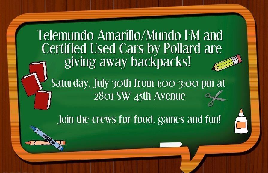 Backpack Giveaways @ Amarillo | Texas | United States