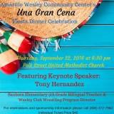 Amarillo Wsley Community Center's Fiesta Dinner Celebration – 9/22/2016