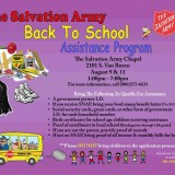 Back to School Assistance Program – 8/09/2016 & 8/11/2016