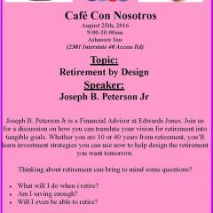 Cafe Con Nosotros – 8/25/2016