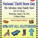 National Thrift Store Day – 8/17/2016