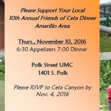 10th Annual Friends of Ceta Dinner- 11/10/2016