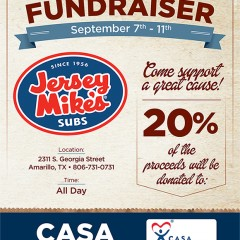 Jersey Mike's Subs Fundraiser – 9/7/2016-9/11/2016