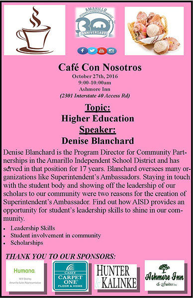 Cafe Con Nosotros @ Ashmore Inn | Amarillo | Texas | United States