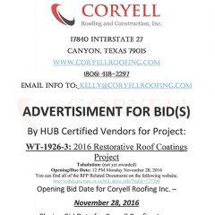 Advertisement for BID