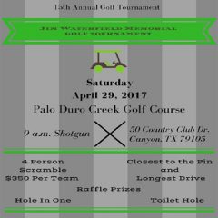 Amarillo Wesley Community Center 15th Annual Golf Tournament – 4/29/2017
