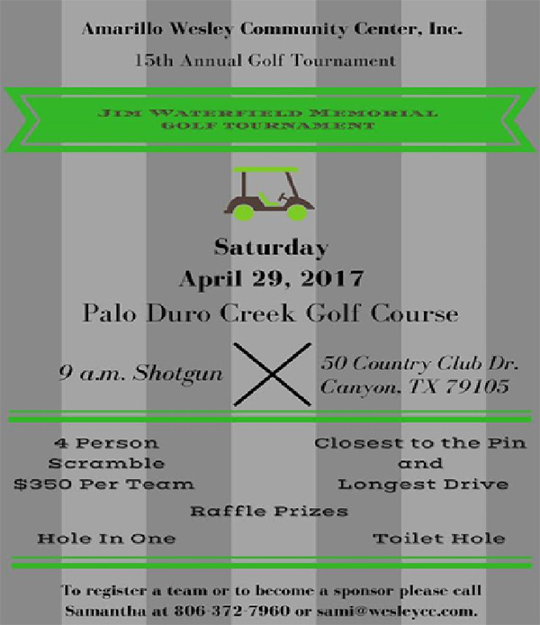 Amarillo Wesley Community Center 15th Annual Golf Tournament @ Palo Duro Creek Golf Course | Canyon | Texas | United States