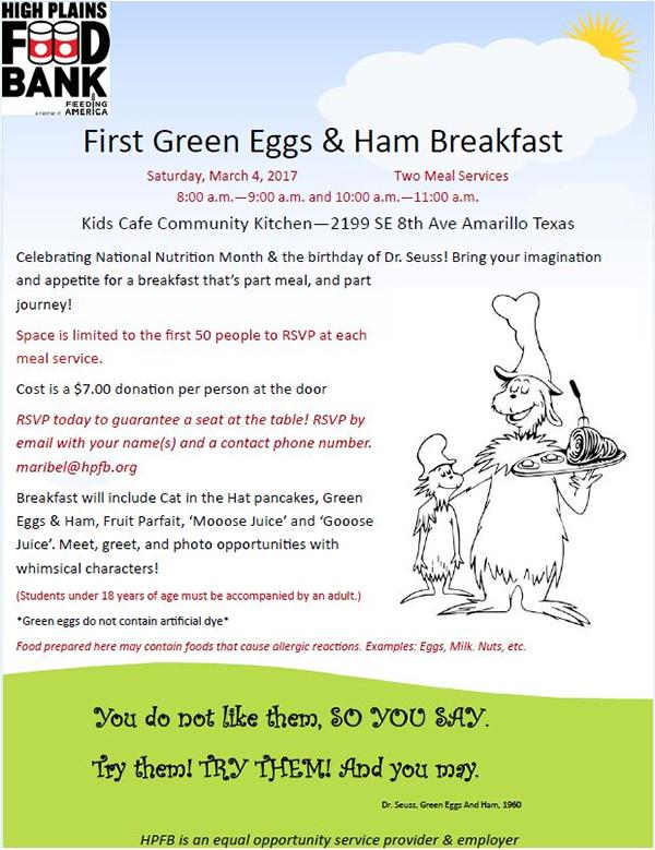 First Green Eggs & Ham Breakfast @ Amarillo | Texas | United States