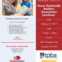 Texas Panhandle Builders Association Luncheon – 2/21/2017