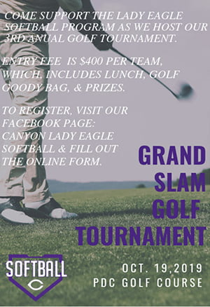 Canyon Lady Eagle Softball 3rd Annual Golf Tournament @ PDC Golf Course