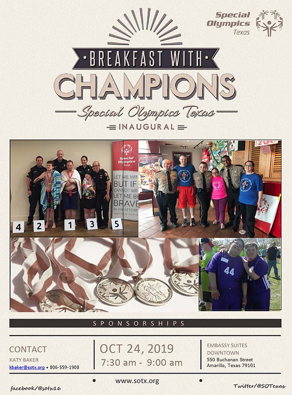 Special Olympics Texas Breakfast With Champions @ Embassy Suites Downtown