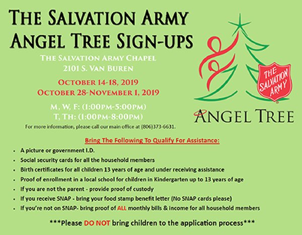 The Salvation Army Angel Tree Sign-Ups @ The Salvation Army Chapel