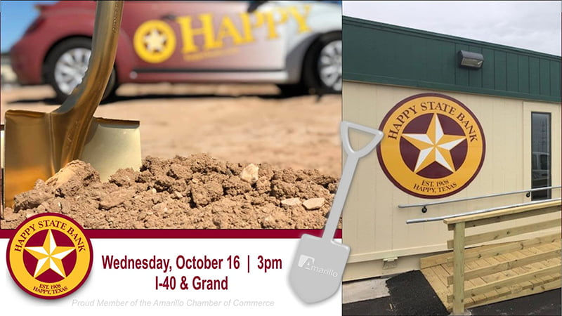 Happy State Bank Ground Breaking - I-40 & Grand Location